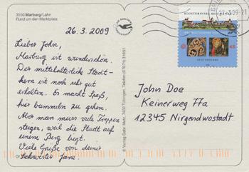 Schreibt Postkarte Wie Man Eine